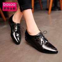 2014 women's spring and autumn shoes low-top shoes flat heel low-heeled pointed toe single shoes lacing shoes casual comfort