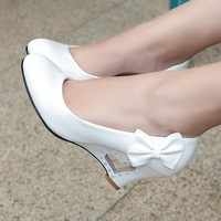 2013 spring and autumn high-heeled shoes women's shoes bow guaiguai shoes sweet princess shoes 40 - 43 plus size shoes