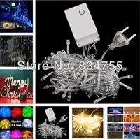 Promotions!! Multicolour 100 LED String Light 10M 220V Decoration Light for Christmas Party Wedding Free Shipping