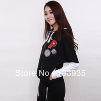 2013 new women's autumn fashion spell color sweater women's sports and leisure suits