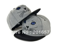 2013 Fashion autumn winter fashion korea fabric lovely cat dancing cap baseball hats cap adjustable 1pc