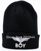2013 fashion BOY LONDON Wings Beanies hats mens women winter knitted caps Free shipping