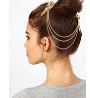 Min Order $10(mix order)Free Shipping!Elegant retro palace golden hair accessories hairpin comb female top clamp
