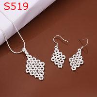 925 silver jewelry set, fashion jewelry,Nickle free antiallergic silver fashion jewelry set thg qfhx