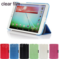 Clear Screen Film + Leather Case Skin Smart Cover Auto Sleep Stand 3-folding  For LG 8.3 inch LG G pad V500 tablet FHD