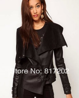 Handsome slim waist slim motorcycle leather clothing outerwear short design fashion spring and autumn women's 2013
