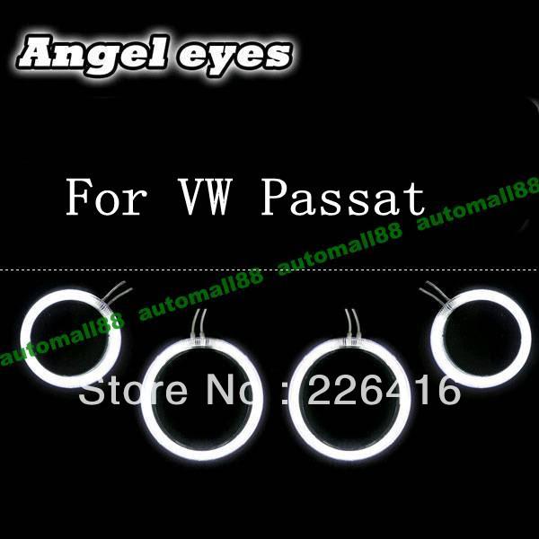 Free shipping,4x VW Passat CCFL Angel Eyes Car headlight Halo Ring lamp kit(China (Mainland))