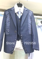boys Wedding suits Formal Party Tuxedo Groom Jacket+Pants+bow tie/necktie+vest+shirt WAISTCOAT Suit 5 pcs set 5sets/lot #3475