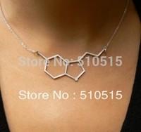 Serotonin BioChemistry Molecule Pendant Necklace