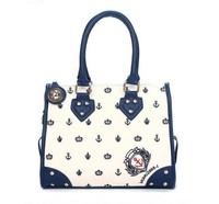 2014 bolsas de ancora fashion PU Women messenger bag naval sea anchor handbag single shoulder bags,BAG122