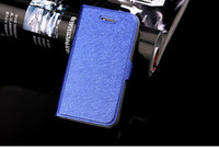 Fashion Wallet Case Flip Leather case Cover Stand with Card Holder case for iPhone 4 4s 4g 10 color Drop shipping
