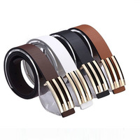 2014 New Arrival Hot Sale Cheap Fashion Casual Belt Men's PU Leather Belt Man Classic Design Waistbands for Promotion
