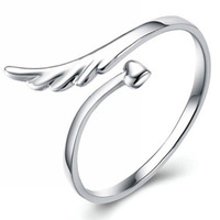 88a078 open ring pure silver ring finger ring silver jewelry
