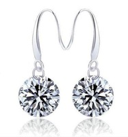 88a046 brief drop earring 925 pure silver earrings zircon