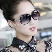 2014 women's fashion large frame polarized sun glasses star elegant all-match sunglasses vintage  free shipping