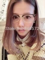 Fashion box metal popular vintage male Women glasses big frame eyeglasses women's glasses myopia  free shipping