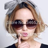 2014 vintage sunglasses female male sunglasses big box circle sunglasses fashion prince mirror