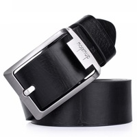 Retail Best Selling Men's PU Leather Belt Fashion Man Classic Design Male Waistband Casual Pin Buckle Belt