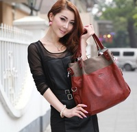 2013new women's OPPO brand composite leather handbag Freeship fashion designer vintage wine red big messenger bags Promotion8619