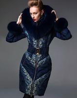 2014 Royalcat Women's Limited edition high quality luxury down coat  female slim fox fur hood girl dress clothing garment
