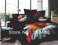 2014 promotion colorful flower print  100%cotton 3d bedding sets