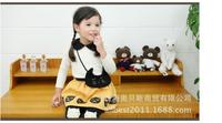 2014 New Fashion Four Piece Set/Suit Girl  Dress Cartoon Dress Long Sleeve Cute Children Dress  Free Shipping