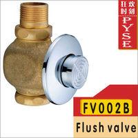 Free shipping FV002B brass flush valve, self-closing flush, toilet flush,time-extended valve,basin tap
