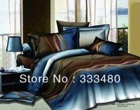 2014 promotion colorful print  100%cotton 3d bedding sets