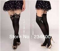 2014 New Design Fashion 60 Denier Sex Pantyhose Stockings Black Tattoo Cat Tights For Women Z020