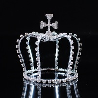 Top Quality Bridal Water Drop Tiara Crown W/ Clear Austrian Crystals Zircon Cluster  For Wedding