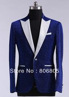 Slim Leisure men's suit Wedding Groomsmen's dress Pure with highlights  5 Color Size:M-XL  Jacket+Pant