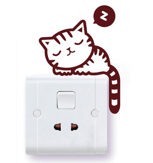 Wandsticker katze cartoon wandaufkleber computer aufkleber
