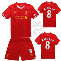 13 - 14 liverpool jerseys liverpool home court soccer jersey training suit