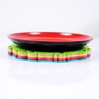 Carve Flower Hollow Qut Heat Insulation Non-slip Silicone Pad For Cup Dish Bowl Pot L