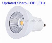 Free shipping 50000 hours life ultra bright CRI 85 2700K gu10 led light Sharp cob with CE&ROHS