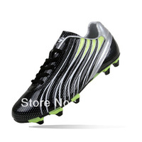 Wholesale Sport Soccer Shoes Of Men&Women Black Waterproof Mirror Technology  Football Boots With Nails DMX High Quality Y4981