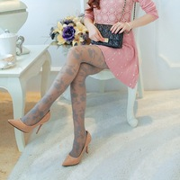 2014 New sexy Girls Soft Tights Fashion Rose Pattern Jacquard Pantyhose Stockings