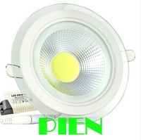 10W 15W 5W COB led downlight round recessed smd lamp for bathroom kitchen 120V-240V White 5000K Free Shipping 1pcs