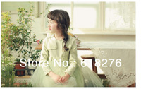 2014 New Spring Style  Long Sleeve Girl's Dress Cotton Dress Lace Children Dress Free Shipping