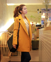 2013 autumn and winter loose plus size clothing woolen overcoat medium-long slim woolen outerwear