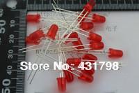 Free shipping Long legs 5MM Red light-emitting red Highlight Light tube LED Light-emitting diodes