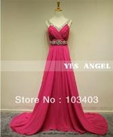 2014 new arrival V-neck long evening dress formal dresses party dresses multicolor  024F