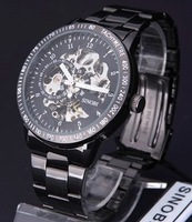 free shipping Mechanical watch double faced perspective mechanical mens watch male commercial watch