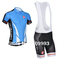 2014 Blue CB14010 Hot  Selling Summer Cycling Jersey/Bib Short Set/Cycle Wear Made From Good Quality Lycra And Polyester