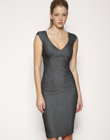 2014 New Women's Ol elegant V-neck Slim Office dress dj006