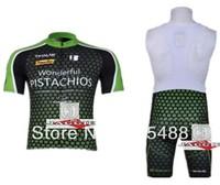 Free shipping+Polyester+pad COOLMAX+green PISTACHIOS Cycling Jersey+BIB SHORTS Bike Sets apparel/Clothes Cycling wear/bike wear