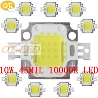 10pcsx 10W High Power LED Cold White 45X45MIL LED chip super bright 10000k 9-12V for fish tank led light chip/flood light