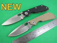 FREE shipping CNC BlACK bEIGE G10 Handle Strider SMF SNG Folding Pocket Knife Stonewashed 5Cr13Wov  Blade Camping Cutting Tool