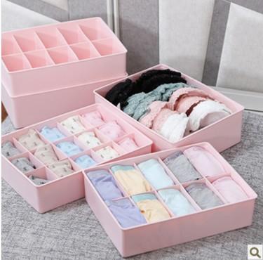 mel mel underwear flor acabamento caixa caixa de armazenamento gaveta calcinha de plástico pedaço caixa de cuecas meias conjunto(China (Mainland))