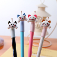 Free shipping Stationery black unisex 0.5mm pen cat pen prize